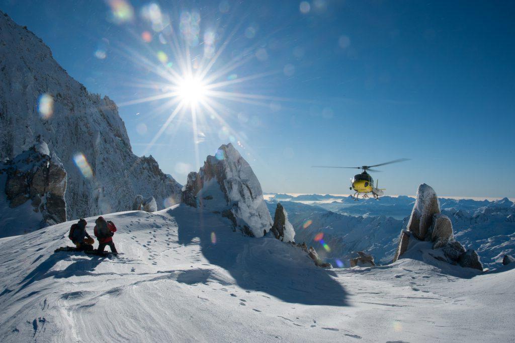 Flights Experiences - Off piste picks-up - Mont Blanc Hélicoptères Les Arcs