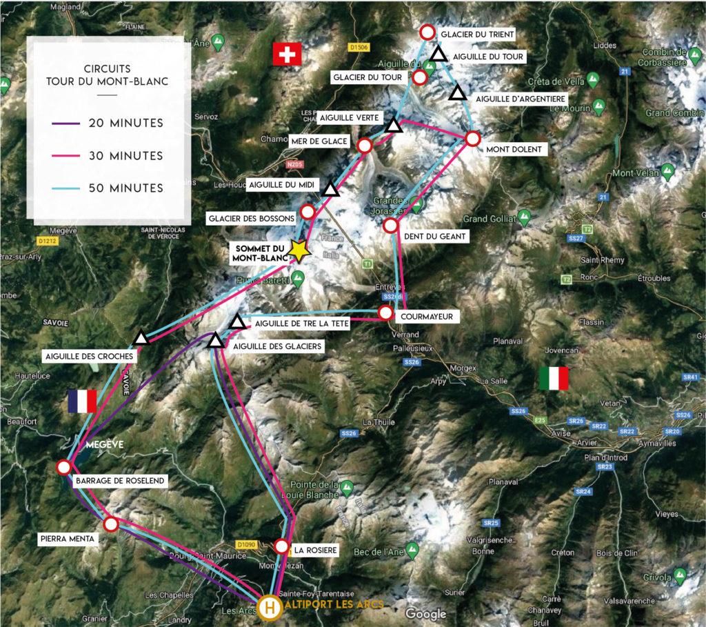 Tourist flights - Tour of Mont-Blanc - Mont Blanc Hélicoptères Les Arcs