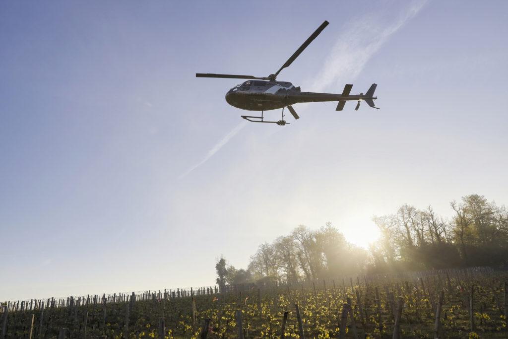 Travail aerien - Lutte anti gel - Mont Blanc Hélicoptères Les Arcs